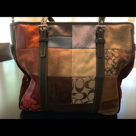 Coach Handbags - Coach Patchwork Tote